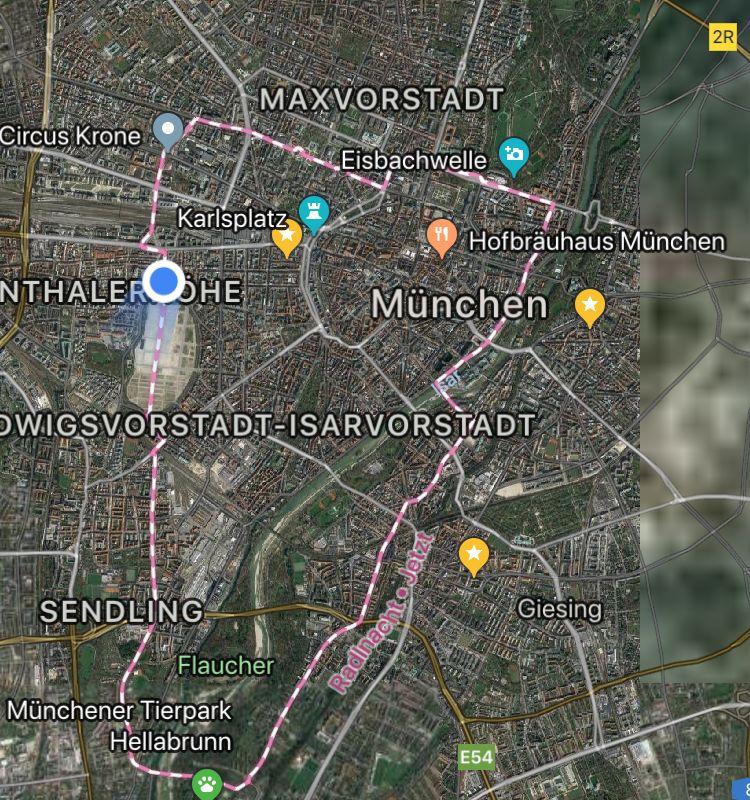Münchner radlnacht ganze Strecke