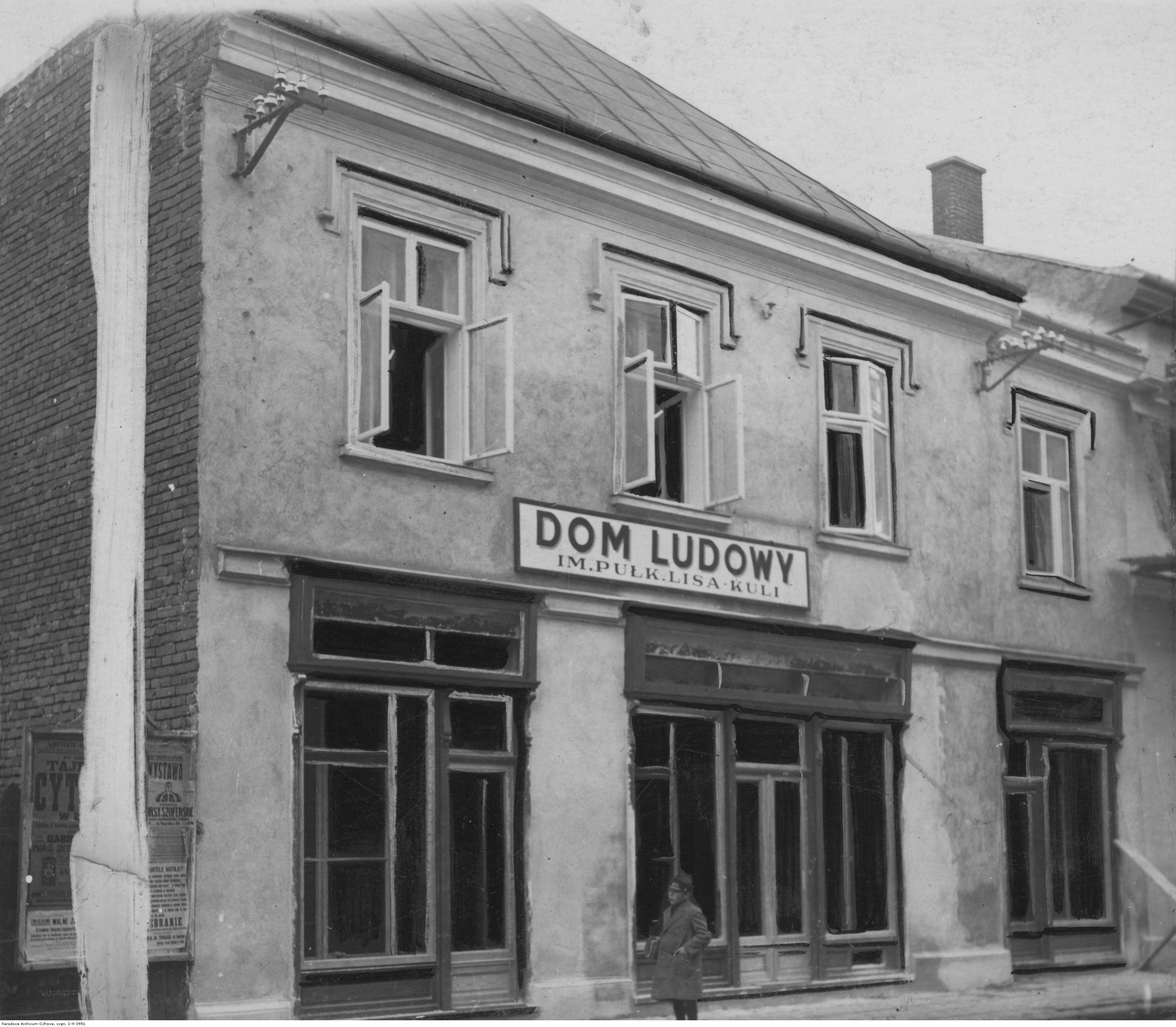 Dom Ludowy w Rzeszowie im. Pułkownika Lis-Kuli, rok 1925-1939