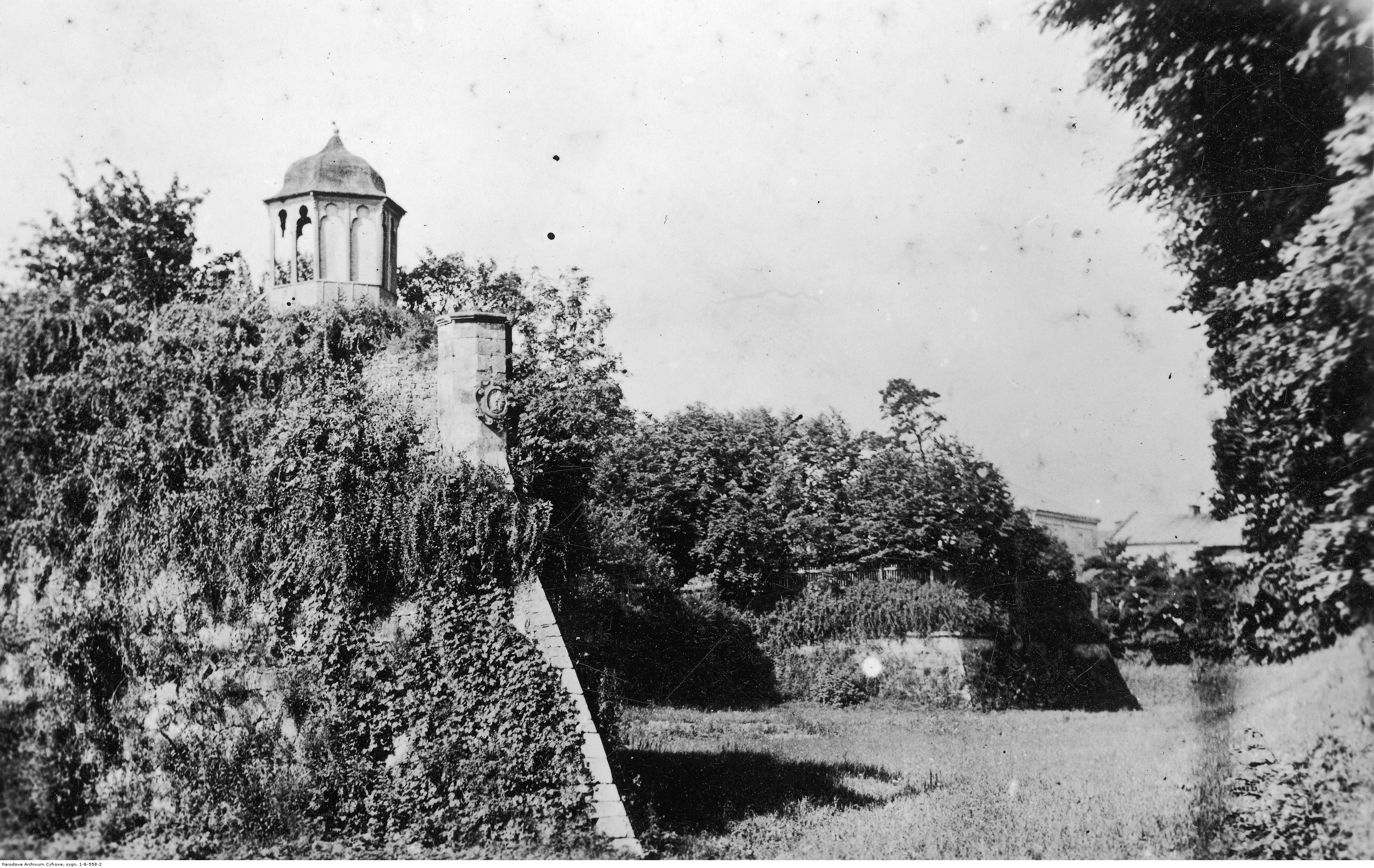 Fragment Zamku Lubomirskich - siedziby Sądu Okręgowego, rok 1937