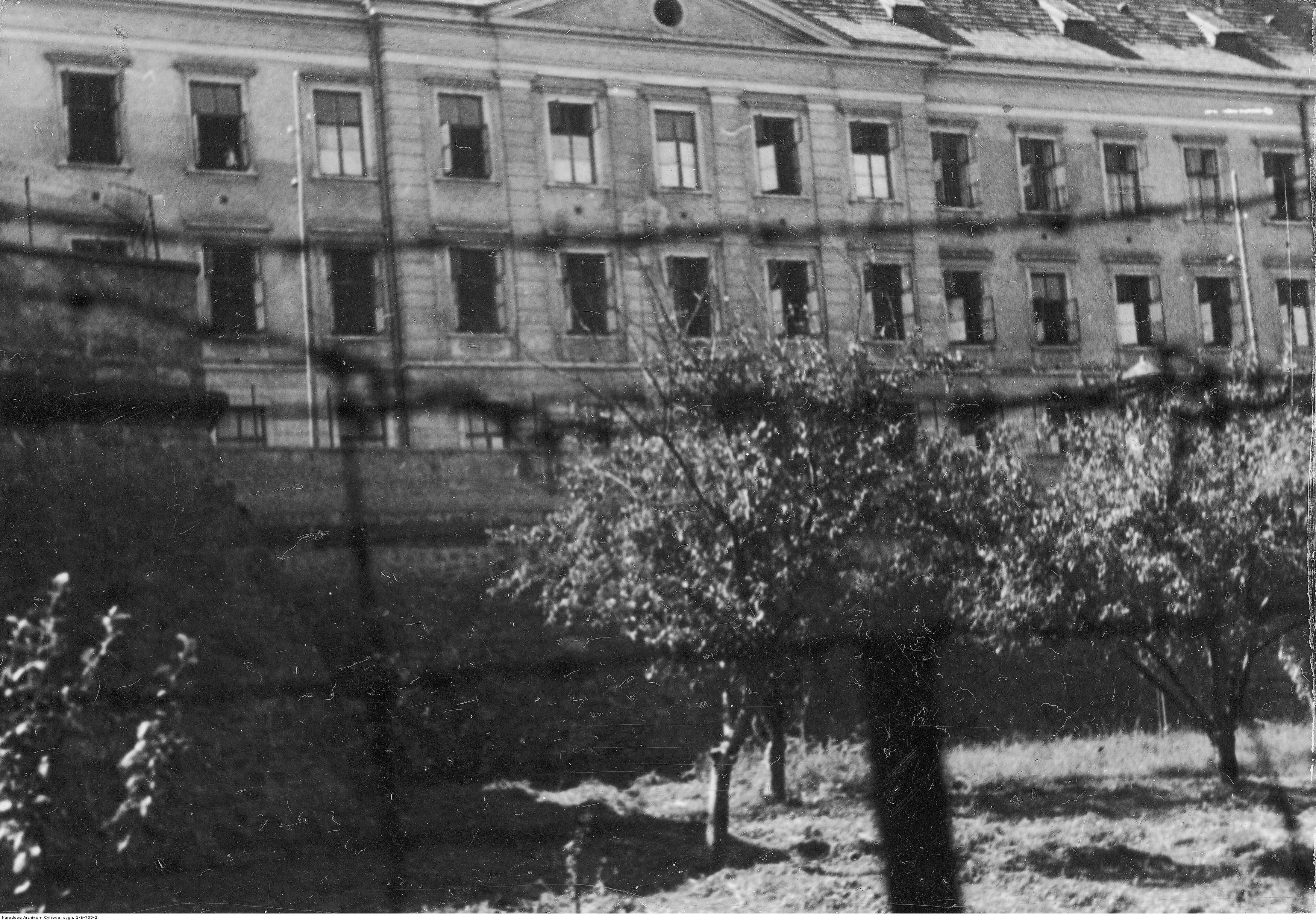 Fragment budynku więzienia w Rzeszowie, rok 1933