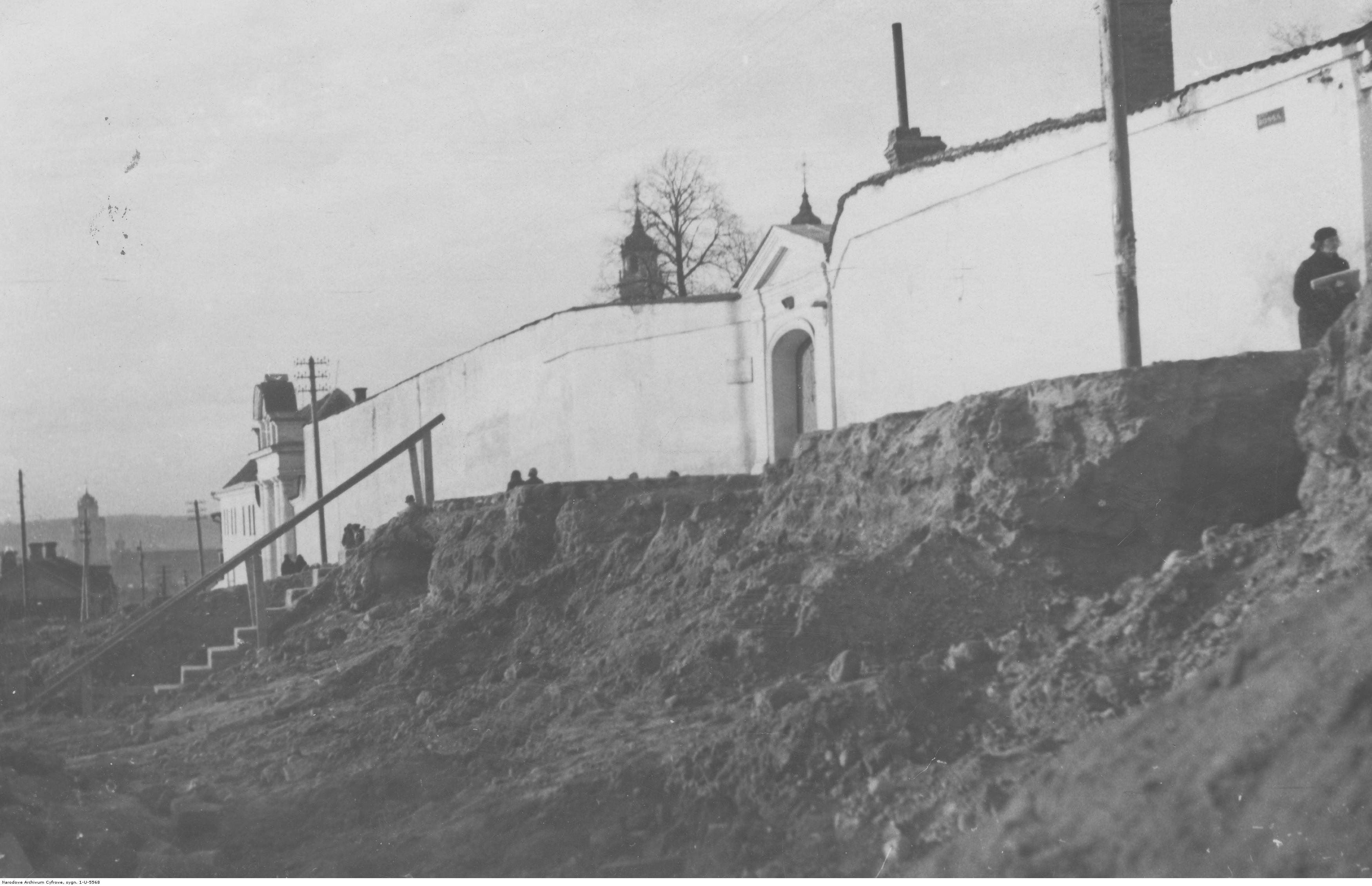 Fragment muru przy klasztorze Sióstr Wizytek w Rzeszowie, rok 1918- 1939