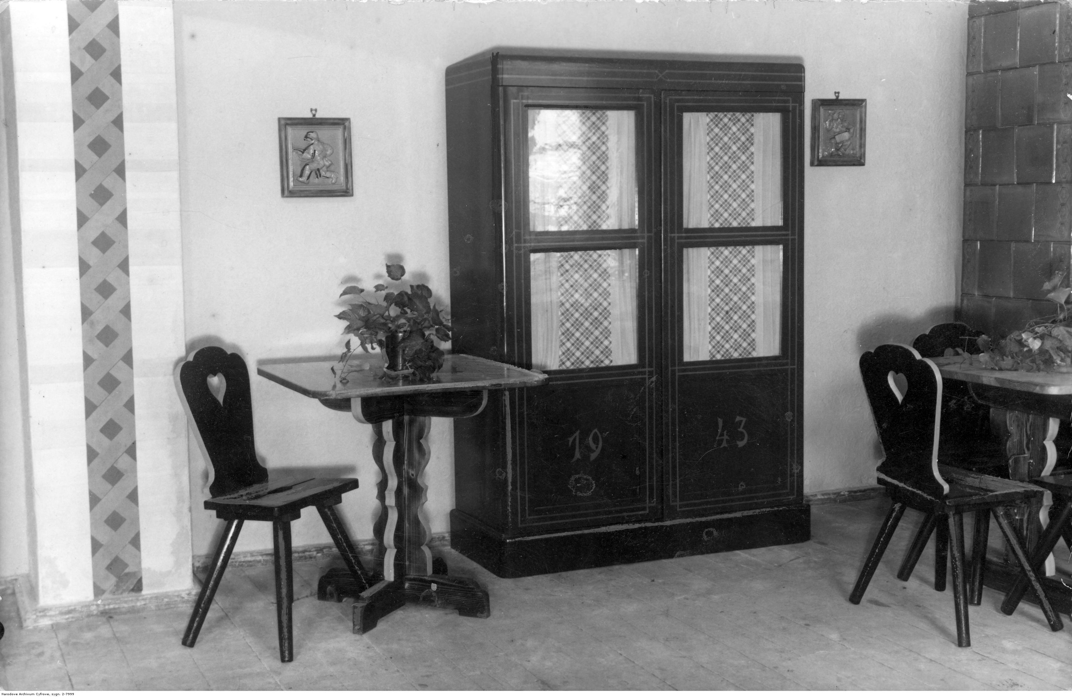Hotel Reichshof w Rzeszowie, widok pokoju, rok 1940-12