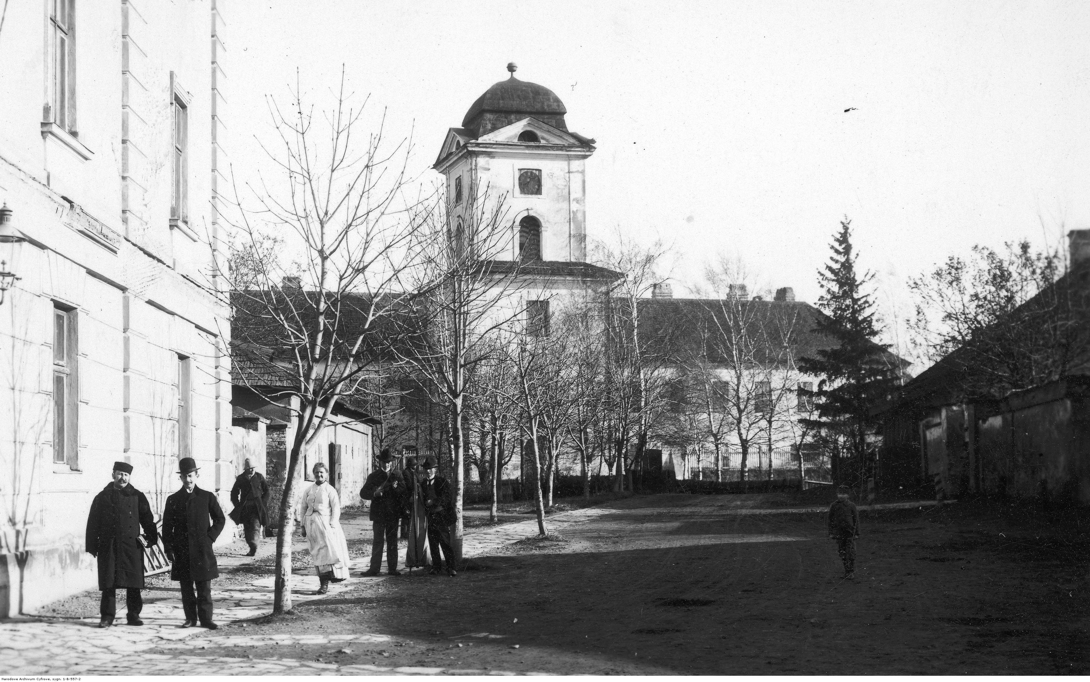 Siedziba Sądu Okręgowego w Rzeszowie znajdująca się w Zamku Lubomirskich. Widok zewnętrzny, rok 1929 -1939